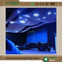 Flexible transparent soft cortina led screen