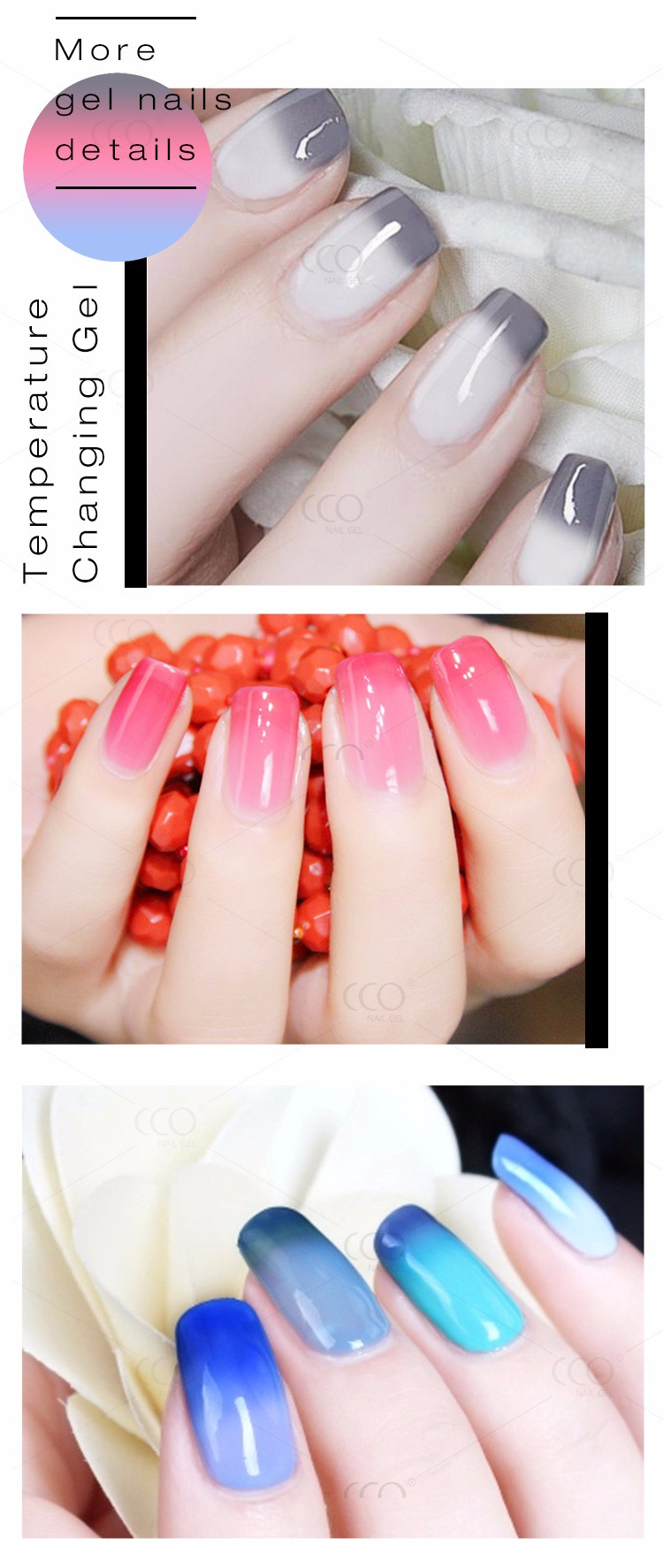 CCO Temperature UV Color Change Nail Gel Polish