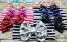 Sequin Bow Baby Headwrap Big Bow Head Wrap Girls Turban Headband Top knot headband Girls Hair Accessories
