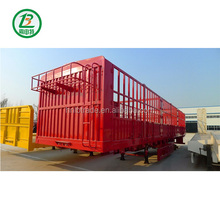 Utility Trailers New Fence Truck Trailers Cattle Transport Customized Low Bed Semi Trailer For Sale