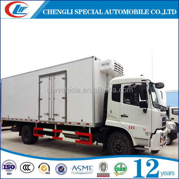 Refrigerated truck 10tons 15tons 20CBM 25CBM Freezer cooling van for sale