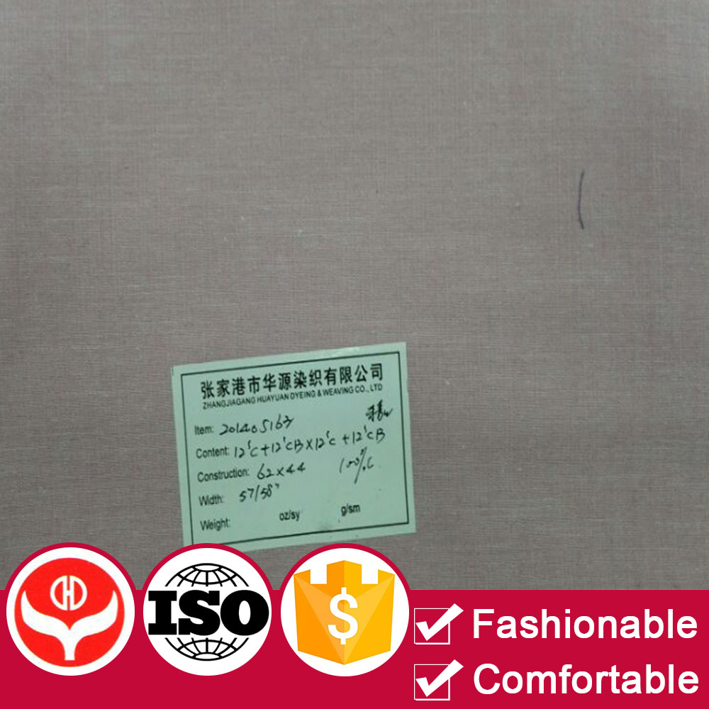 Good quality factory price polyester cotton yarn dyed grey fabric