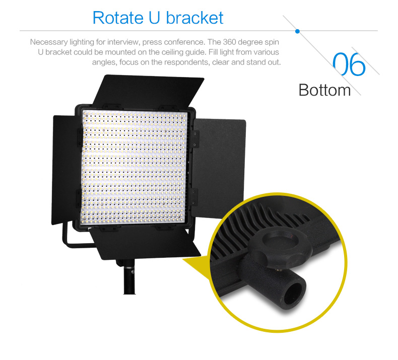 NANGUANG CN-600CSA Bi-color LED photographic equipment studio light for photo and video