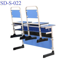 Modern Double Primary School Classroom Table And Chairs, Student Desk With Chairs SD-S-022