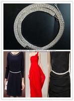 Ladies Women Crystal Rhinestone Diamante Waist Chain Belt 4 rows Silver Belly Charm Sparkly Belt