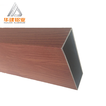 shandong Wood grain extrusion aluminium profiles for door and window