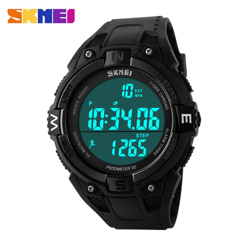 skmei Heart Rate Monitor Counter Calories Sports Watch Men Women 3d Pulsometer 50m waterproof diver digital led Pulse Wave Watch
