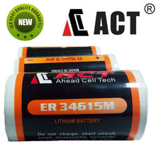 Non-Reachargeable Primary Dry Cell 3.6v Lithium Battery ER34615M Made-in-China