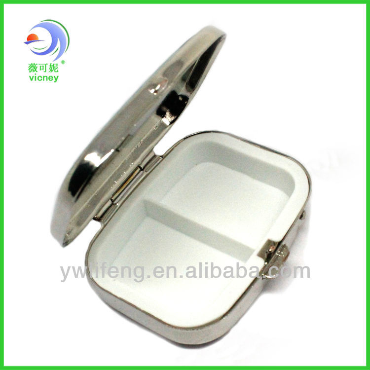 Hot Sale Pill Box Promotion Gifts Small Metal Pill Box