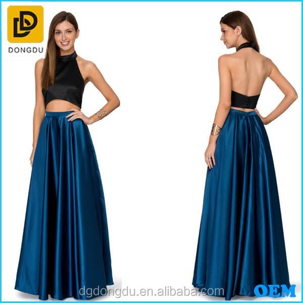 Latest Long Skirt Design Peacock Blue Satin Skirt High On Your ...