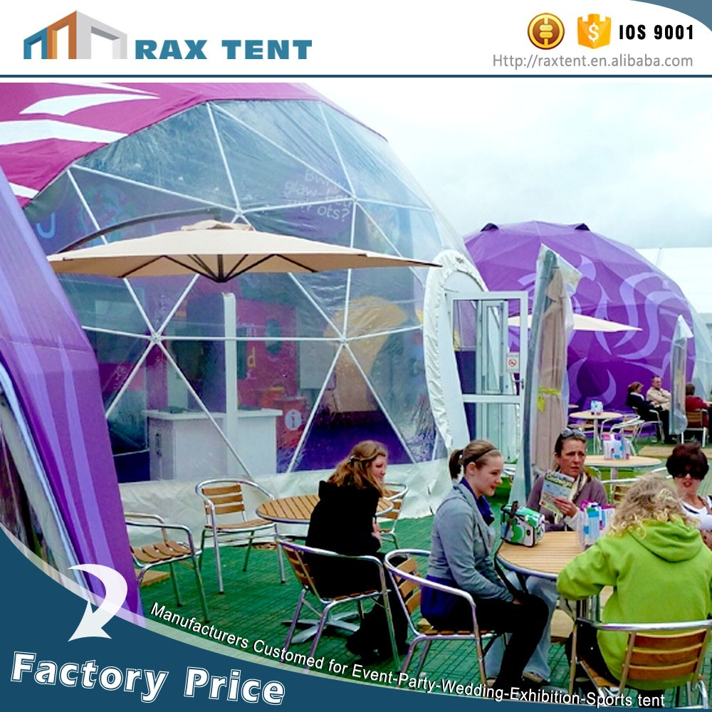 Event dome marquee geodesic dome tent Top quality PVC cover outdoor family camping event tent factory price