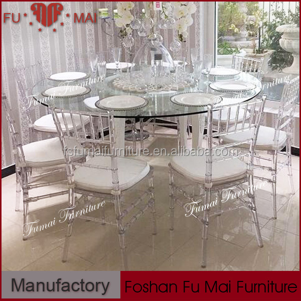 Cushion pu crystal clear white banquet chairs for sale