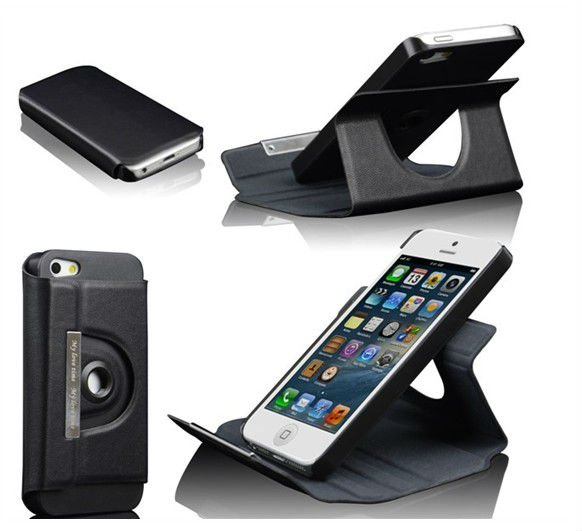 New mobile phone cover Leather for iPhone5 each in detail box