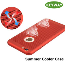 New Fashion Summer Cooler Phone Case Popular Style Ultra Thin All-inclusiver Heat Thermal Dissipation PC Phone Case For iPhone 7