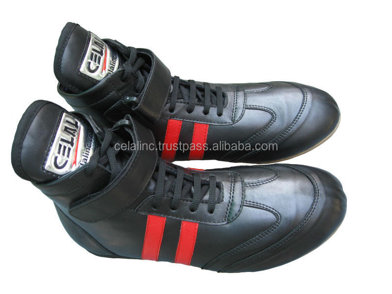 Best Quality Fashion Custom Men Leather Boxing Shoes