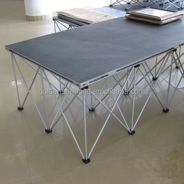 Light weight folding aluminum portable stage mobile stage