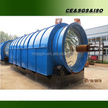 Waste tyres / rubber pyrolysis machine with continuous system