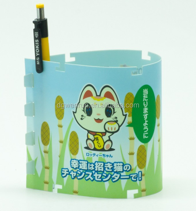 Promotional pp pen holder/ pen container