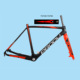 Cyclocross Bike 3k Full Chinese Carbon Frame BB30 BSA Clear Coating Wholesale FM286