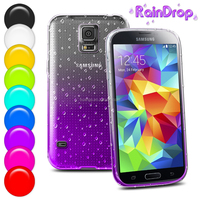 mobile back soft covers Two Color Soft TPU Raindrops Back Cover Waterdrop Case for samsung galaxy s5 raindrop case china price