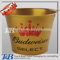Promotional Double sides printing 0.28mm Round Galvanized Metal Ice Bucket