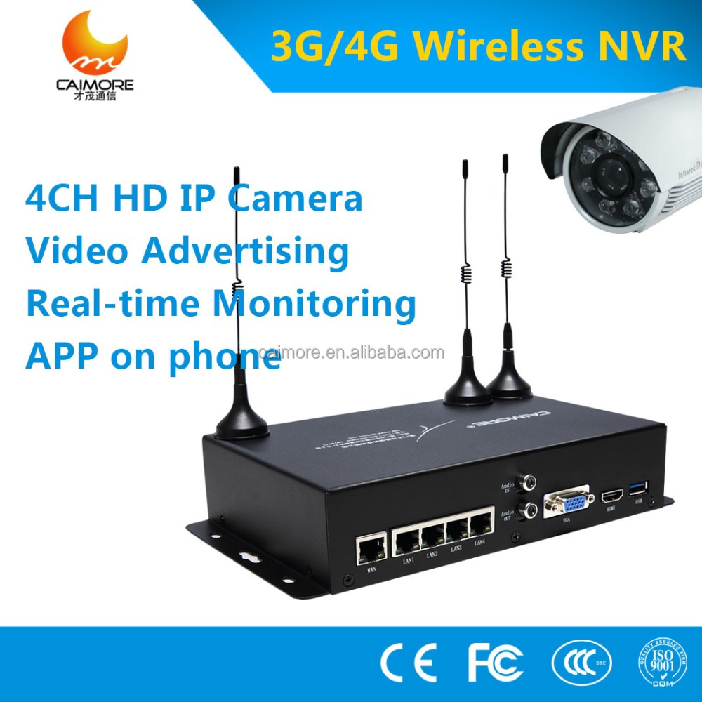 720P 4CH NVR Kit with 7 inch Monitor Security CCTV IP Wireless Camera Systerm