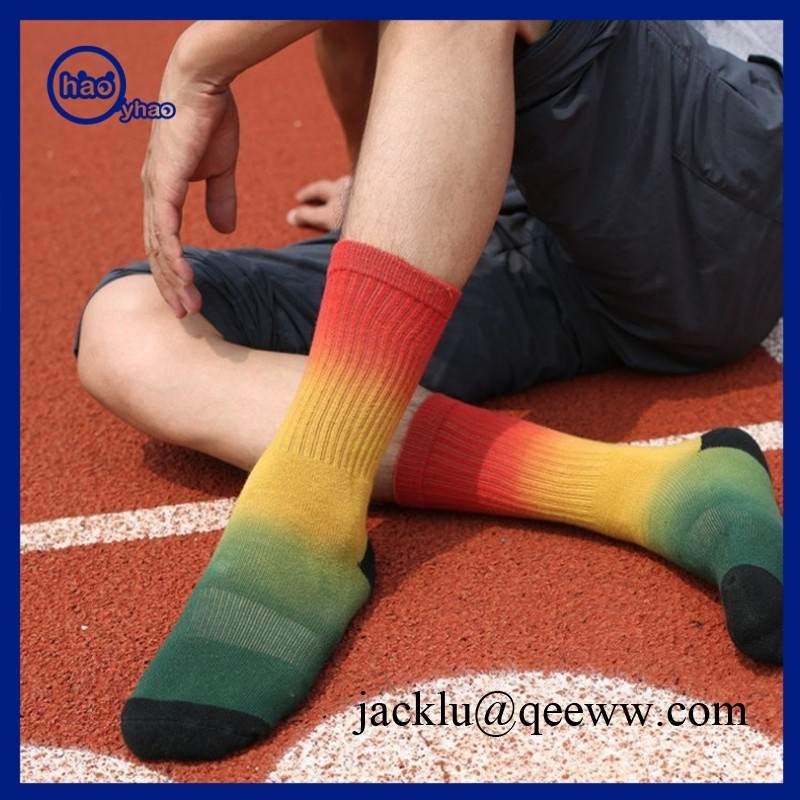 Custom your own logo design tie dye sox men