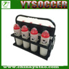 Plastic Foldable 8 Pack Plastic Drink Sports Bottle Carrier