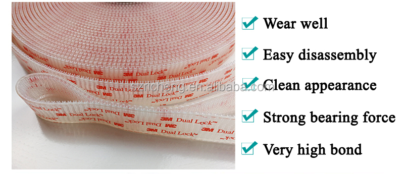 100% original 3M Clear tape SJ3560 dual lock fastener self adhesive tape die cutt circle sqaure any customized size 3m sticker