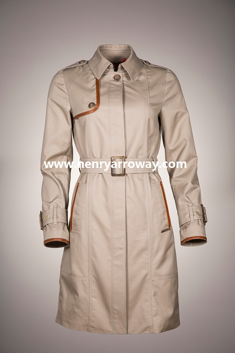 Ladies fashion trench coat from Henry Arroway Spain