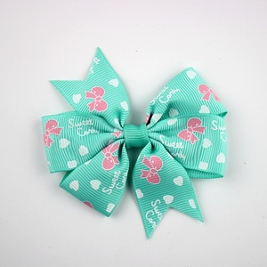Boutique Dots Ribbon Hair Bows for Baby Girls Hair Bows with Metal Clip for Children Hair Accessories