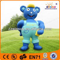 Customized lovely inflatable moving teddy bear mascot/inflatable teddy bear
