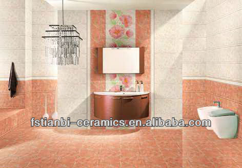 3D indoor floor and wall tile
