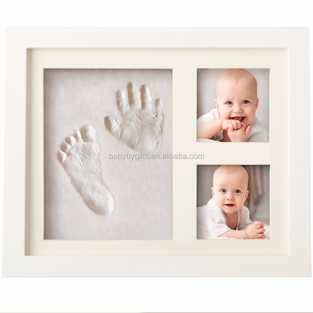 BABYBY Manufacturer hotsale new fashion baby footprint and handprint / baby photo frame