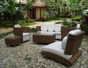 OEM factory sale outdoor wicker rattan garden furniture sofa set