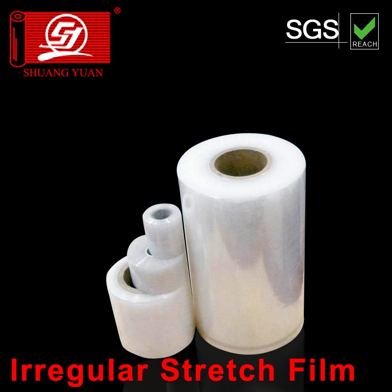 Hingh quality with lower price LLDPE Irregular Stretch Film wrap film