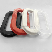 Convenient plastic handle gribs for cardboard carton boxes carrying