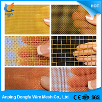 lowest price copper wire mesh brass wire mesh solid insulated copper wire mesh