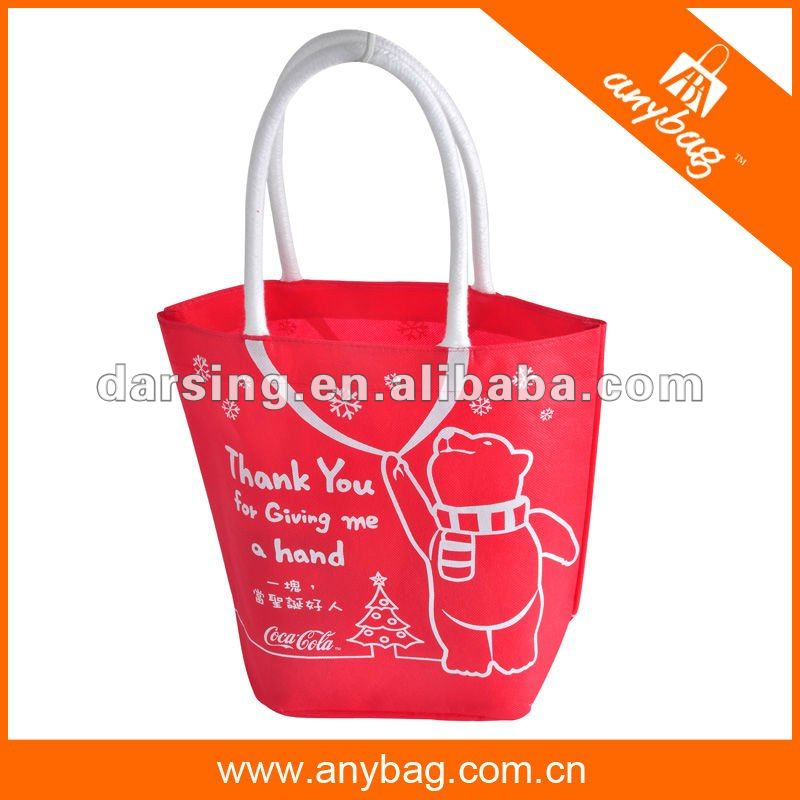 2013 nonwoven shopping bag with cotton string handle