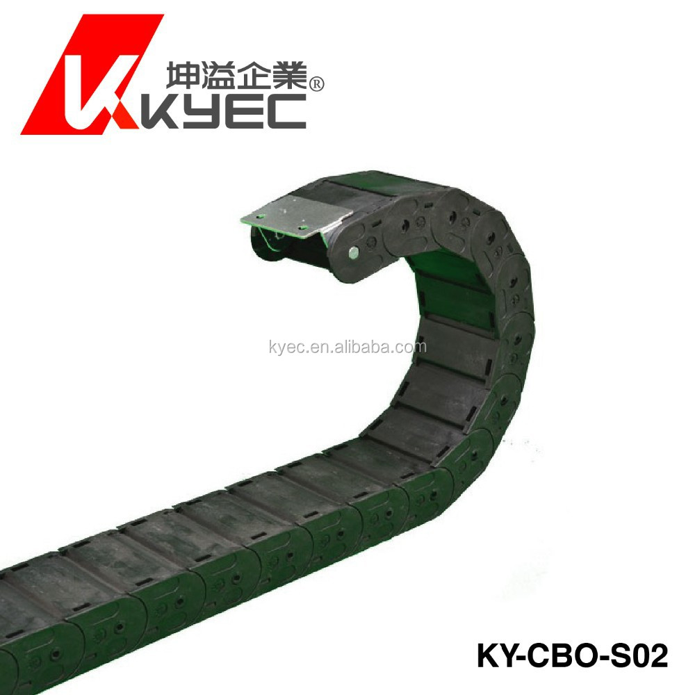 KYEC secure type plastic cable carrier drag chain (made in Taiwan)