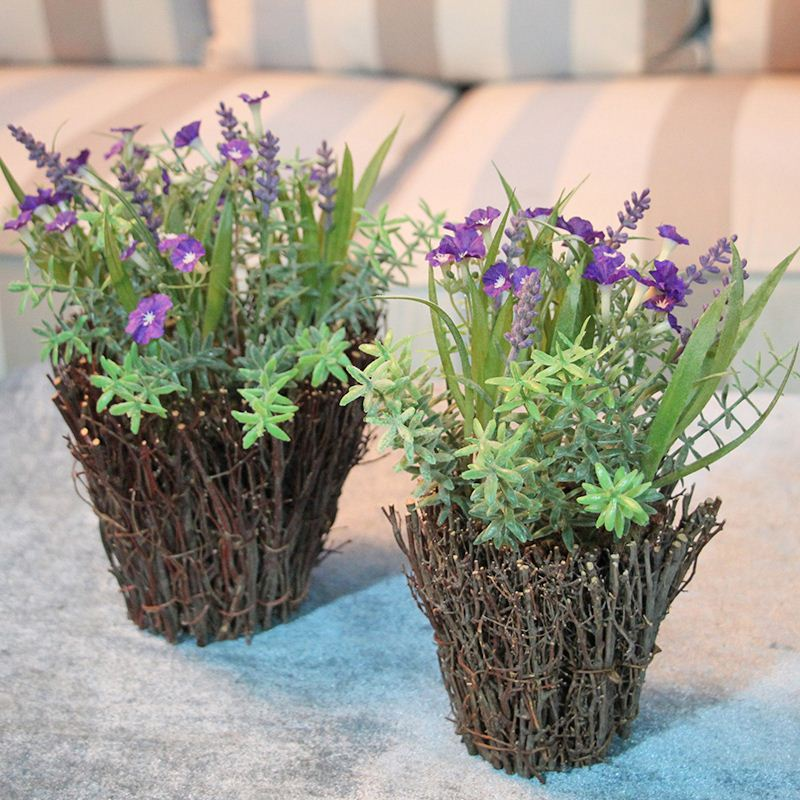 Factory High Simulation Decorative Plastic Plant Pots For Indoor Plants