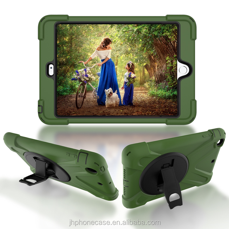 For iPad mini 2 3 4 kids safety shell 360 rotated stand bumper armor case
