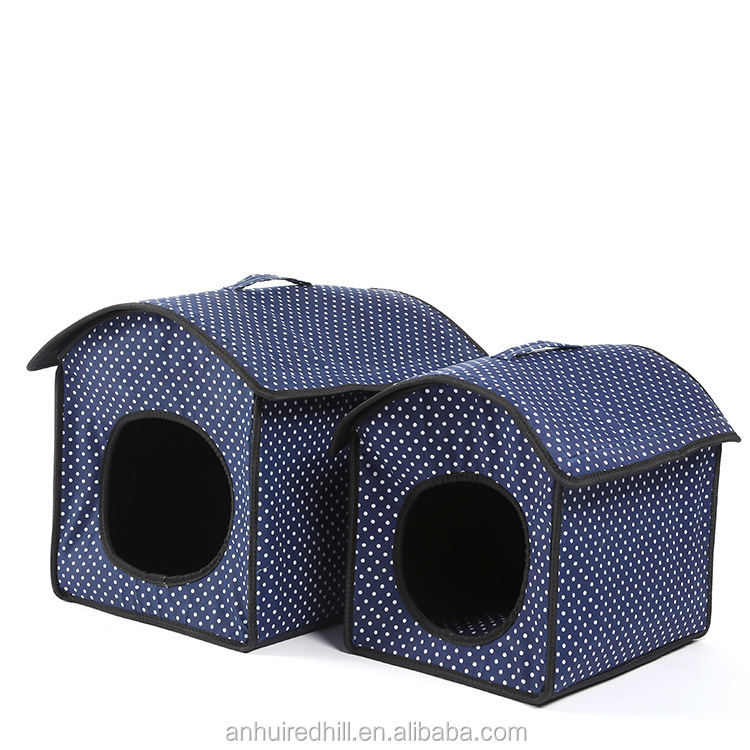 soft and comfortable fashion dog house with removable cushion