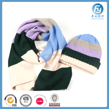 2017 winter hat scarf gloves set warm knitted hat scarf gloves set