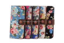 100% Brand New Flower Leather Wallet Case For iPhone 6