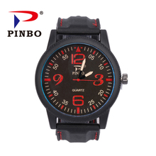 < Manufacturer> Promotional alloy case silicone band watches men