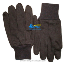 Double Layer Red Fleece Lined Brown Jersey Cotton Oil and Gas Gloves Work china supplier