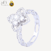 B01 New product custom design jewelry eternity white gold engagement bridal women real 18k gold diamond wedding ring