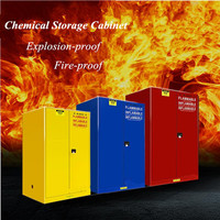 Fireproof Flammable Chemical Storage Cabinet , Chemical Safety Cabinet