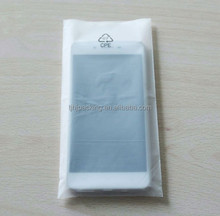 heat seal frosted CPE mobile phone usb electronic product plastic packaging bag flat bag